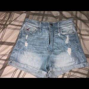 Hollister High Waisted Shorts (Size 0)